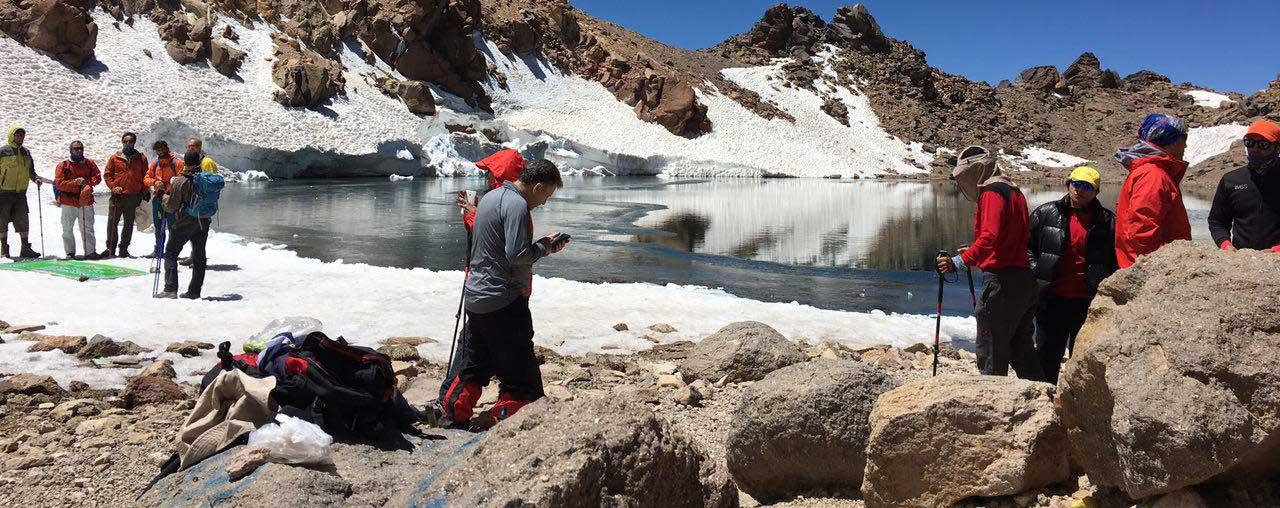 Sabalan summit 4811m.